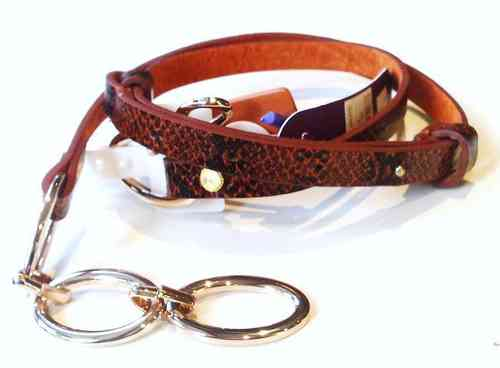 Tan Leather Designer Belt