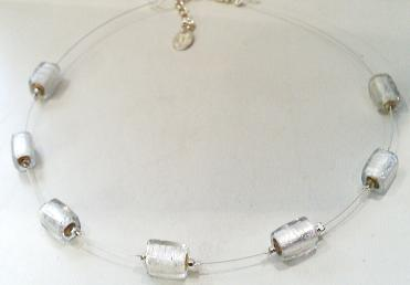 Silver Beads on Wire