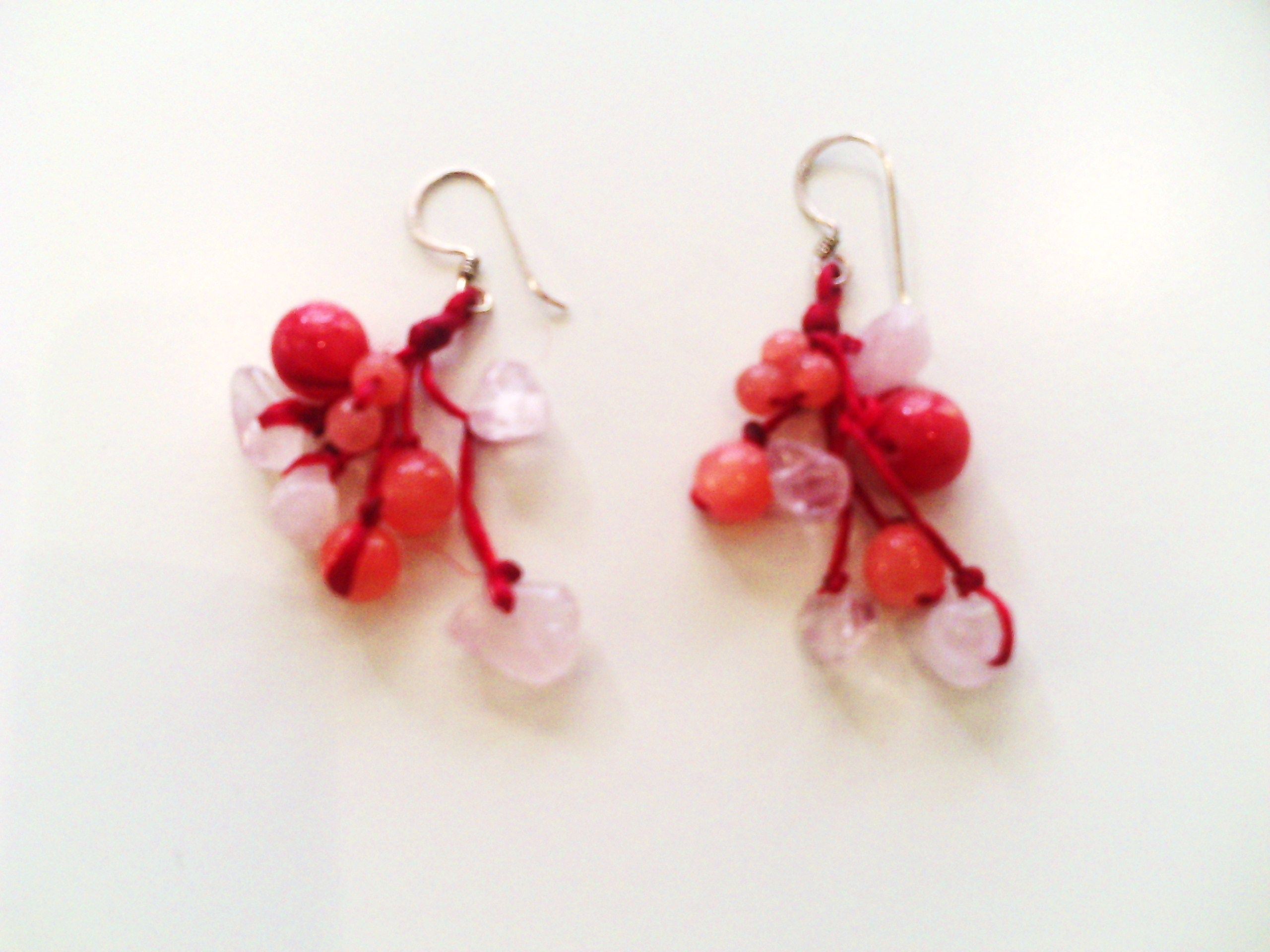 shibori beaded white buy jewelry handmade wedding bead item livemaster earrings