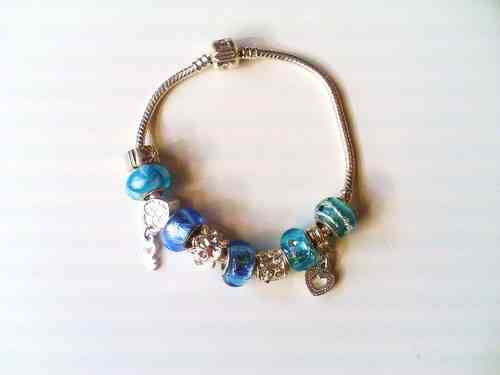 Pandora Style Charm Bracelet (S) -  in 2 Different Colours