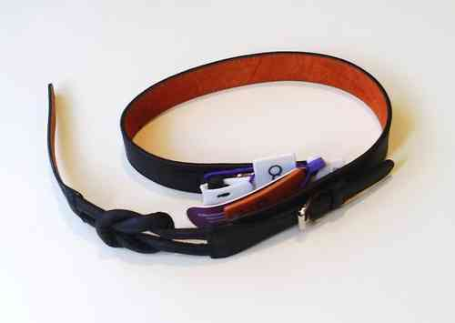 Black Leather Ouch Belt