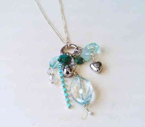 Turquoise Charms Necklace