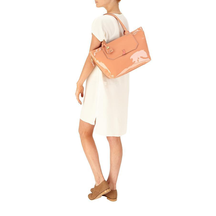 37e1c93a2ef Planet Jewels - Nica Venice Tote Handbag in Salmon Pink Patent